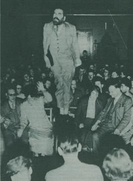Levitating Yogi at the Conway Hall